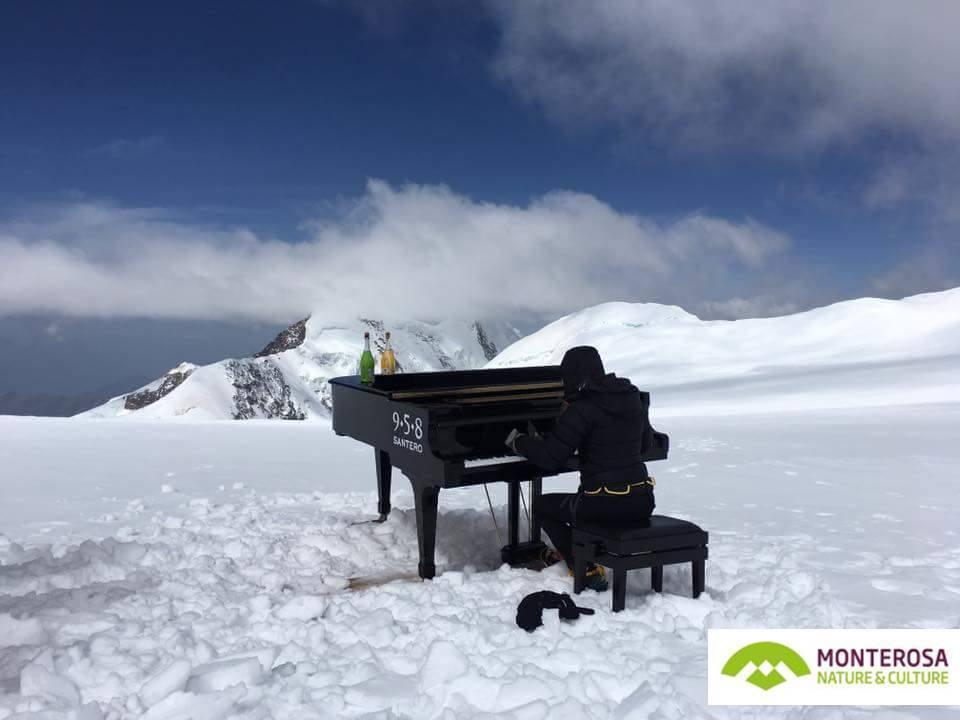 Il concerto più alto del mondo sul ghiacciaio del monte rosa